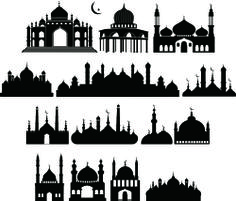 Siluet Masjid Vector - Desain Jempol (