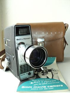 Vintage 8mm movie camera Bell Howell zoom electric eye
