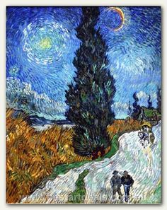 Van_Gogh - Country road in Provence by night
