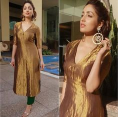 Dress Maxi Outfit Colour 27 Super Ideas Churidar Designs, Kurta Designs Women, Indian Attire, Indian Outfits, Ethnic Outfits, Salwar Pattern, Indian Gowns Dresses, Brocade Dresses, Indian Designer Suits