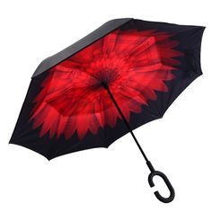 Pattern Color Background Russia Texture Reverse Umbrella Double Layer Inverted Umbrellas For Car Rain Outdoor With C-Shaped Handle Personalized