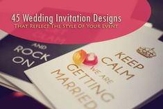 45 wedding invitation ideas; I didn't look all the way to the end, but thought of the game of Clue...Who [is doing] What Where When and What time. We all know why (murder!) - only in this case it would be Wedding!