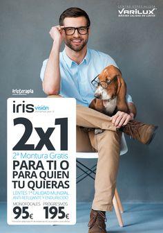 """Diseño de la Campaña """"2x1 en Monturas con lentes Varilux"""", para el grupo de Ópticas IrisVisión. Esperamos que os guste!  Muy pronto más información en: http://www.g2disseny.com/"""