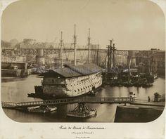 Pont de Brest à Recouvrance, vue prise de l'arsenal (© Musée national de la Marine/S. Dondain)