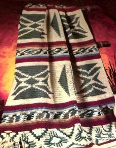 Crochet Afghan Pattern Southwest  Pattern by sewprettypatterns, $3.00