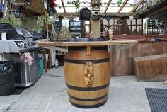 This step by step description should help anyone create a beautiful outdoor (or indoor) bar sink from a discarded wine or whisky barrel. This is your typical 55 gallon barrel, I bought for $30 fro…