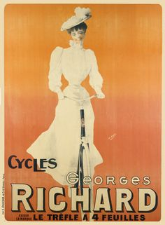 Six sizes from $29   TITLE: Cycles Georges Richard ARTIST: H Gray CIRCA: 1905 ORIGIN: France  Fine art giclee print on heavy acid free archival paper using 100+ year fade resistant inks.