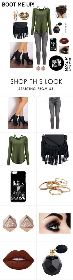 """""""Chelsea Boots"""" by dadrumma ❤ liked on Polyvore featuring Shoe Closet, Levi's, Kendra Scott, FOSSIL, Lime Crime and chelseaboots"""