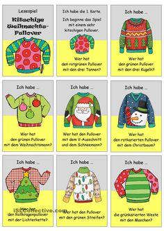 Lesespiel _ Kitschige Weihnachtspullover _ Ich habe...Wer hat...?