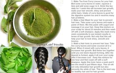 Magic Of Curry Leaves : Make Tea from Curry Leaves for your hair. Boil some curry leaves in water, squeeze a lime and add some sugar to it. Drink this tea daily for 1 week this will increase hair growth, make your hair smooth, shiny and prevent white hairs. Intake of curry leaves is good for the digestive system too and it resolves many hair problems.