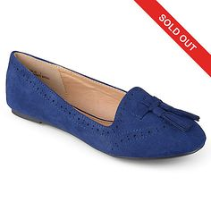 726-388 - Journee Collection Microsuede Eyelet & Tassel Slip-on Loafers