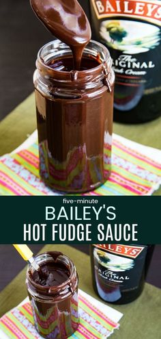 Five-Minute Bailey's Hot Fudge Sauce - A Thick, Luscious Irish Cream And Chocolate Dessert Sauce Recipe That You Can Make In No Time With Only Four Ingredients Via Cupcakekalechip Baileys Fudge, Chocolate Baileys, Baileys Recipes, Irish Chocolate, Baileys Drinks, Bourbon Cocktails, Chocolate Cream, Fudge Recipes, Candy Recipes