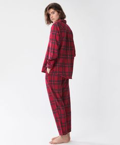 Red checked trousers