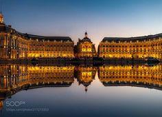 Bordeaux: Water mirror - Miroir d'eau by michaelkoutras