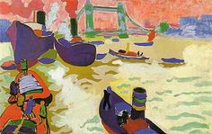 Andre Derain: Boats on theThames
