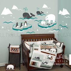 Nursery baby kids Wonderful Arctic iceberg polar bear