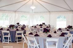 Kelly + Al Mon Ami Wedding Port Clinton Ohio http://marywyar.com purple & black details