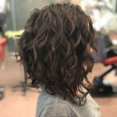 Curly Lob, Bob Haircut Curly, Curly Hair Styles, Haircuts For Curly Hair, Long Curly Hair, Short Bob Hairstyles, Medium Hair Styles, Men's Hairstyles, Haircut Short