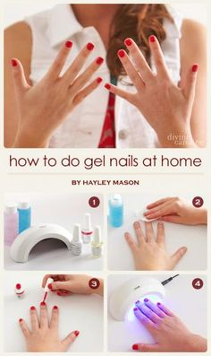 Give yourself a gel mani at home. Interesting...wonder how this works.