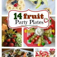 14 Fruit Party Plates