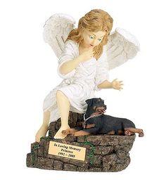 Rottweiler: Angel Edition Pet Figurine Urn - Angel Ashes