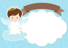Christening Invitations Boy, Birthday Invitations, Angel Theme, Godparent Gifts, Baby Clip Art, Baby Wallpaper, Boy Baptism, Diy Arts And Crafts, Baby Party