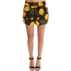 Ganni Lee Silk Shorts (€170) ❤ liked on Polyvore featuring shorts, women, silk shorts, elastic waistband shorts, flower shorts, silk short shorts and stretch waist shorts
