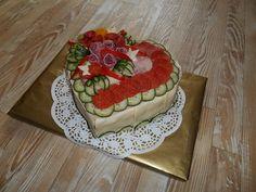 Slané torty | Tortysnov.sk Sandwich Cake, Sandwiches, Avocado Toast, Food Art, Food And Drink, Breakfast, Desserts, Entry Ways, Tailgate Desserts
