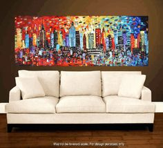 Art Painting New York Skyline abstract Textured by jolinaanthony