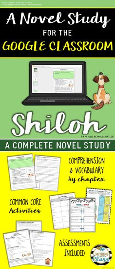 This 107 page book study for Shiloh, by Phyllis Reynolds Naylor, contains comprehension by chapter, vocabulary challenges, creative reading response activities and projects, tests, and much more!  You will find this literature guide to be teacher and student friendly. It contains a wide variety of question types, along with open-ended graphic organizers and unique activities, all carefully crafted for this particular story.   Focus standards include figurative language, character analysis…