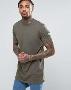 Buy New Look Longline T-Shirt In Khaki at ASOS. With free delivery and return options (Ts&Cs apply), online shopping has never been so easy. Get the latest trends with ASOS now. Asos, High Street Brands, Great British, Khaki Green, Long A Line, New Look, Fashion Online, Latest Trends, Men Sweater