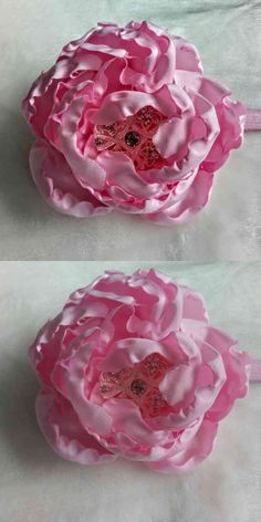 Baby hairpiece hair accessory gorgeous pink hand made silk flower with a brooch created using silk fabric each petal is cut and molded to create a life like peony the size of the flower is 5 inches long by 3 inches high . A wonderful gift for christening., shower and just any special ocassion / This is my custom signature... (via pushapin.com)