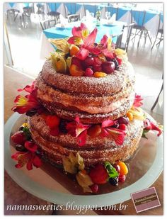 Nanna Sweeties Brazilian Naked Cake!!!