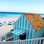 Pink Sand Beach & Cabana Stripes on Harbour Island