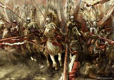 """""""Husaria"""" by Mariusz Kozik vel Lacedemon. Depicts Poland's Winged Hussars."""