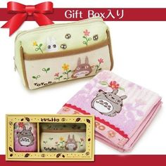 My Neighbor Totoro mini Towel & Canvas Pouch in gift box Studio Ghibli