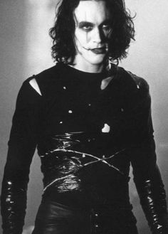 "Brandon Lee in ""The Crow"""
