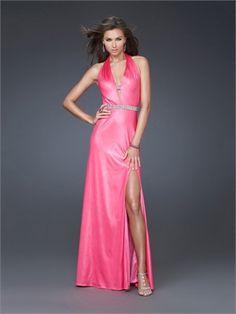 f4a70b081b Halter Sexy Deep V-neckline Beaded Waist Floor Length Prom Dress PD10953  www.dresseshouse