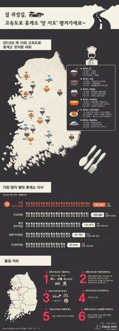 [인포그래픽] 설 귀성길, 고속도로 휴게소 '맛 지도' 챙겨가세요 #map / #Infographic ⓒ 비주얼다이브 무단 복사·전재·재배포 금지