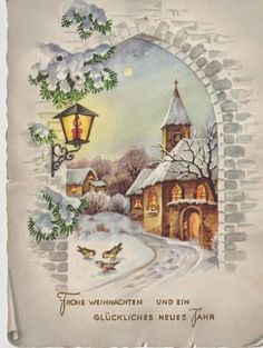 Old Christmas Post Сards — Vintage Christmas Images, Old Fashioned Christmas, Christmas Scenes, Christmas Cards To Make, Christmas Past, Vintage Holiday, Christmas Greeting Cards, Christmas Pictures, Christmas Greetings