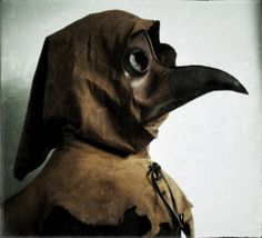 Leather PLAGUE Doctors Mask Steampunk by pirateswife on Etsy, £90.00