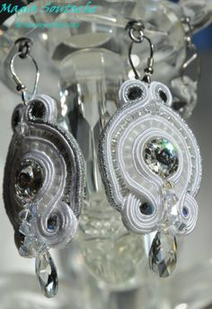 silver crystal Swarovski, Drop Earrings, Bridal, Crystals, Silver, Jewelry, Magick, Jewlery, Jewerly