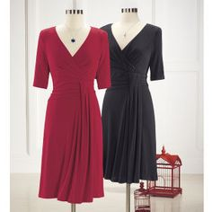 Pleated Crossover Dress - Christmas party!