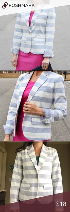 Women's Striped Blazer Women's blue and white striped Blazer. Like new! Excellent for work as well as to pair with a relaxed look. Jackets & Coats Blazers
