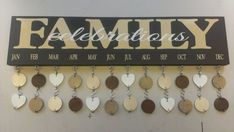 Family Birthday Board  DIY Kit by PNTHCorporation on Etsy, $30.00