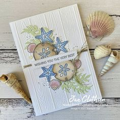 Thinking Stamping: Friends are Like Seashells for Stampin' Fancy Friday Friends Are Like, Nautical Cards, Beach Cards, Stamping Up Cards, Card Maker, Sea Shells, Creative Cards, Homemade Cards, Paper Crafts
