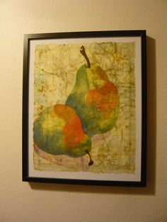 Original pear painting kitchen decor pears by MarciaMcKinzieArt