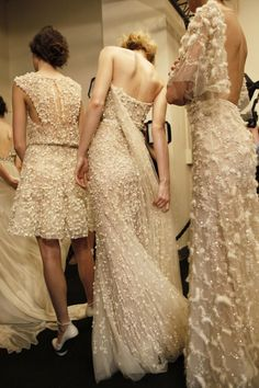 Elie Saab Haute Couture A/W '11.....such beautiful embroidery and applique work.....