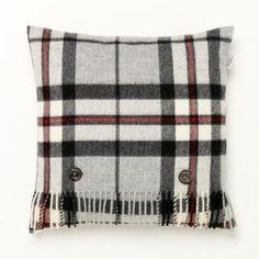 Grey Thomson tartan cushion