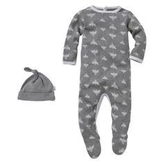 Burts Bees Baby™ Newborn Coverall and Hat Set - Heather Grey
